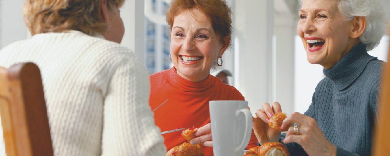 retired women having best tea ever