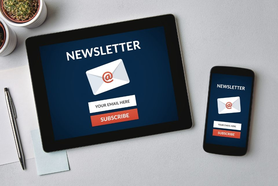 newsletter on mobile devices