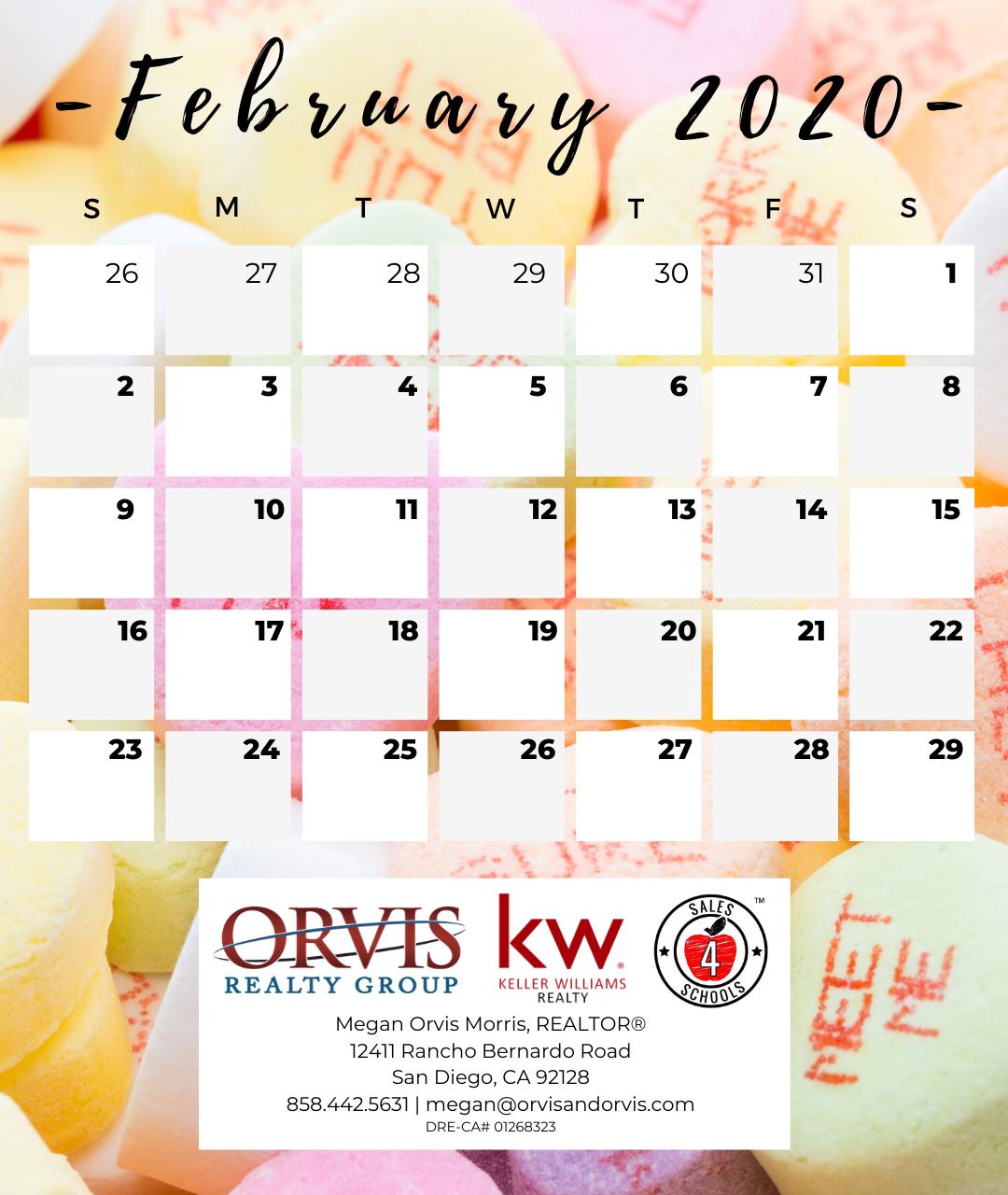 Local Event Calendar - February 2020