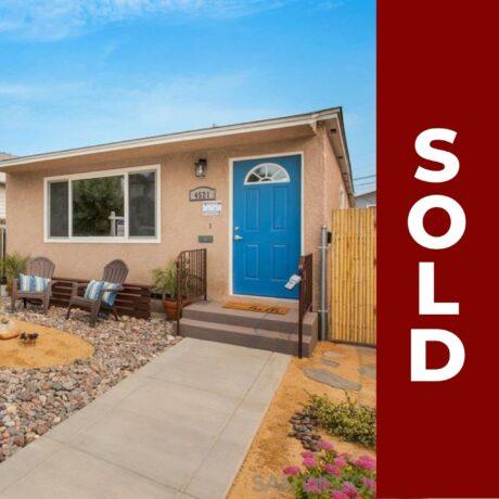 Sold - 4519-21 37th Street, San Diego, CA 92116