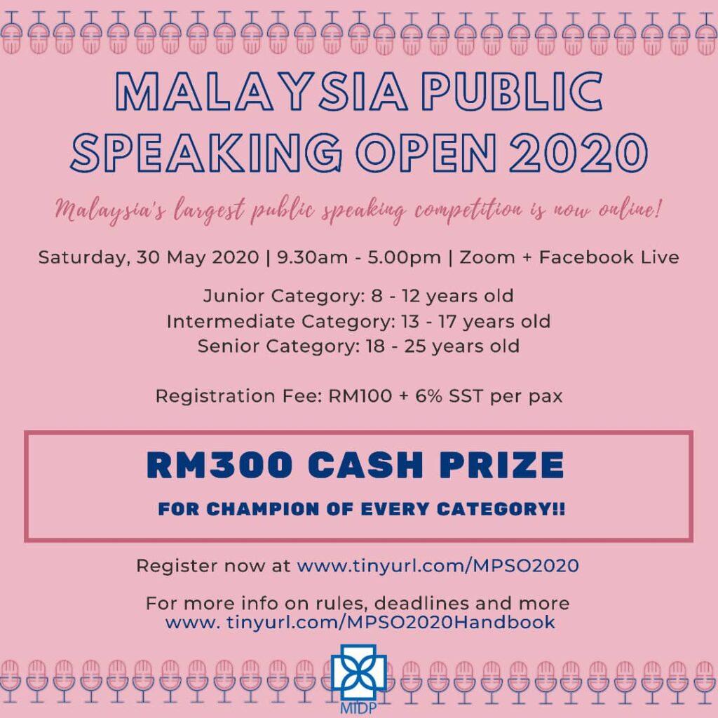 Malaysia Public Speaking Open 2020