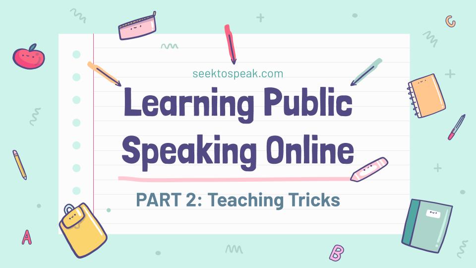 Learning Public Speaking Online