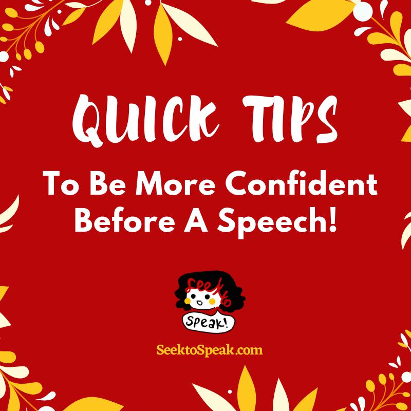 5 QUICK TIPS TO SPEAK MORE CONFIDENTLY