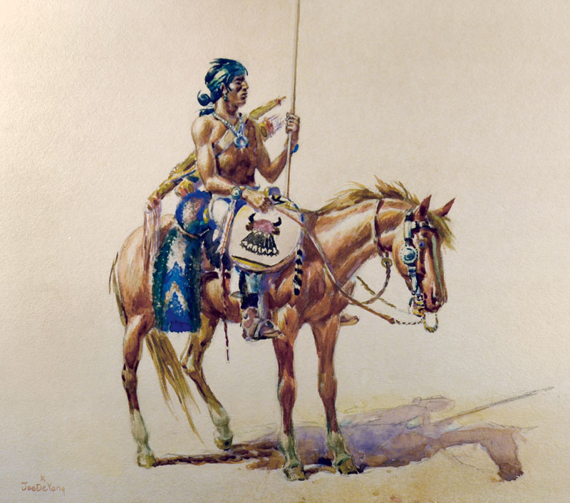 Native American on a horse