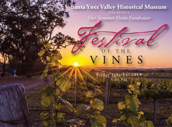 front of 2019 Festival of the Vines Invitation