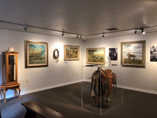 view of the inside of one of the exhibition rooms