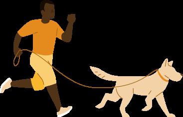 Man dog running
