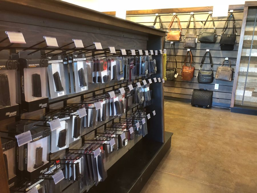 Inside of retail store at Timberline Firearms