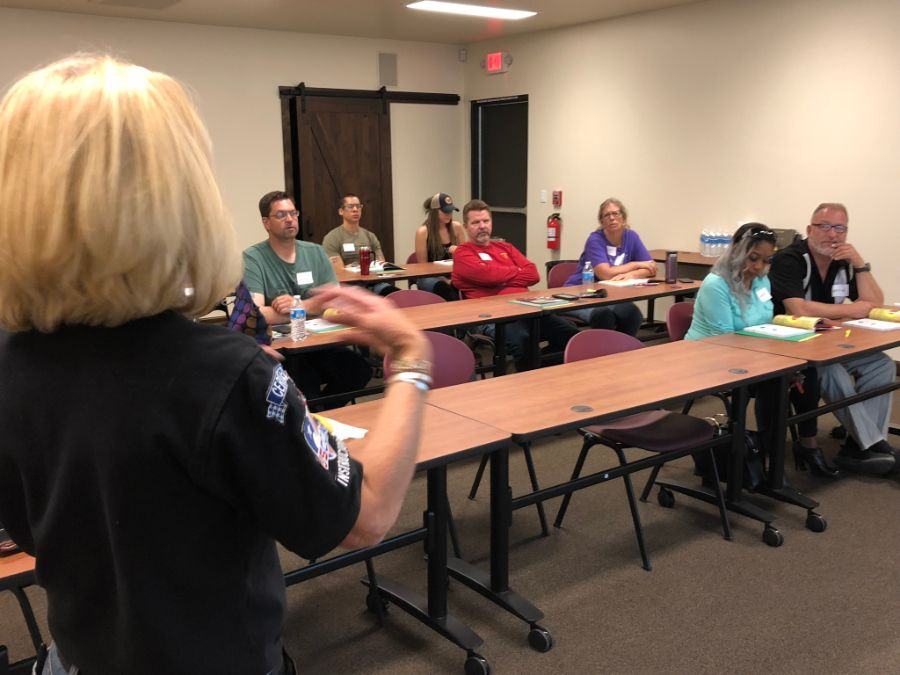 Gun safety training at Timberline Firearms