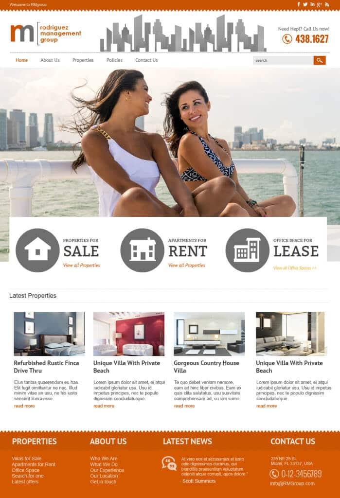 Miami real estate web design