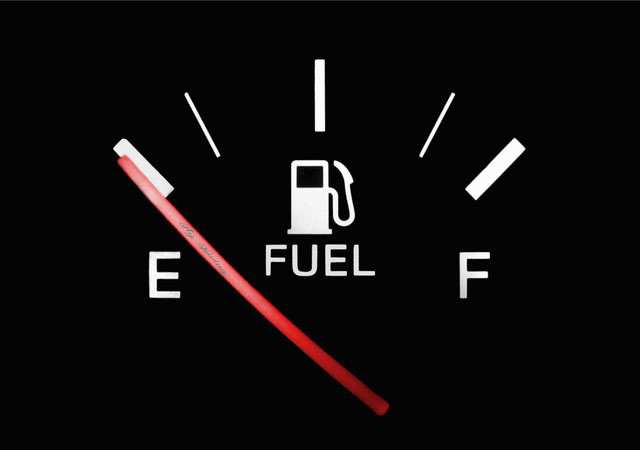 How to drive a car when running out of gas
