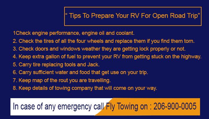 How can i prepare RV Trip Kent WA