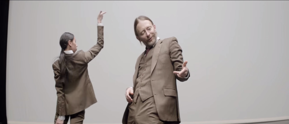 """Thom Yorke dancing in the new video for """"Ingenue"""" from his side-project Atoms For Peace. (Youtube)"""