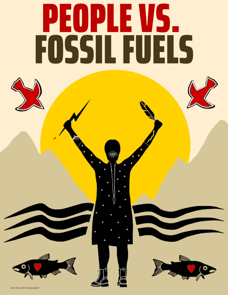 PEOPLE VS. FOSSIL FUELS by Christi Belcourt