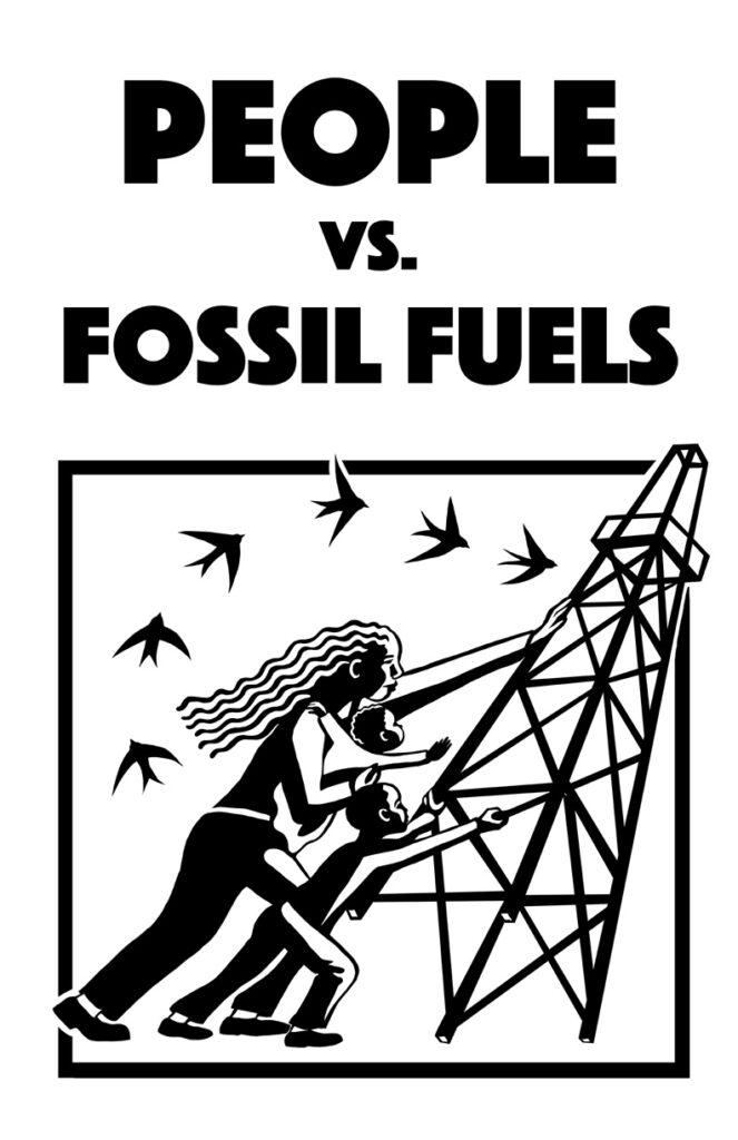 People Vs. Fossil Fuels B&W
