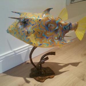 Cow Fish Sculpture