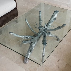 Silver Enchanted Forrest Branch Coffee Table