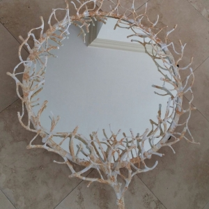 Coral Sculpted Mirror