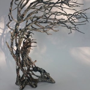 Tree sculpture with people inside