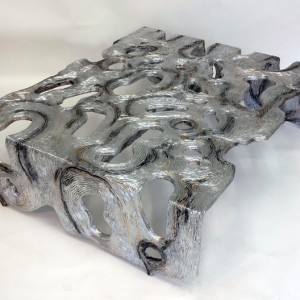 Silver See Through Coffee Table