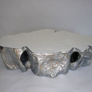 Silver Polished Coffee Table