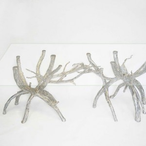 Enchanted Forest Table Glass Top Table