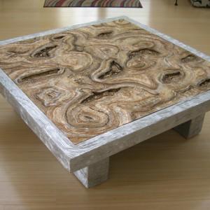 Metallic Gold & Silver Coffee Table