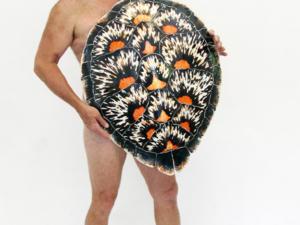 Ed Koehler with Sea Turtle Shell