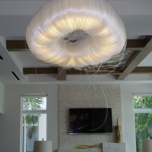 Monofilament Puff Light Ceiling Fixture