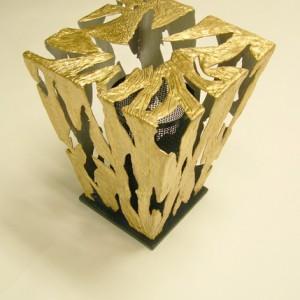 Gold and Black Diamond Sea Through Table