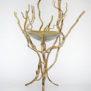 Flower Stand With Glass Bowl