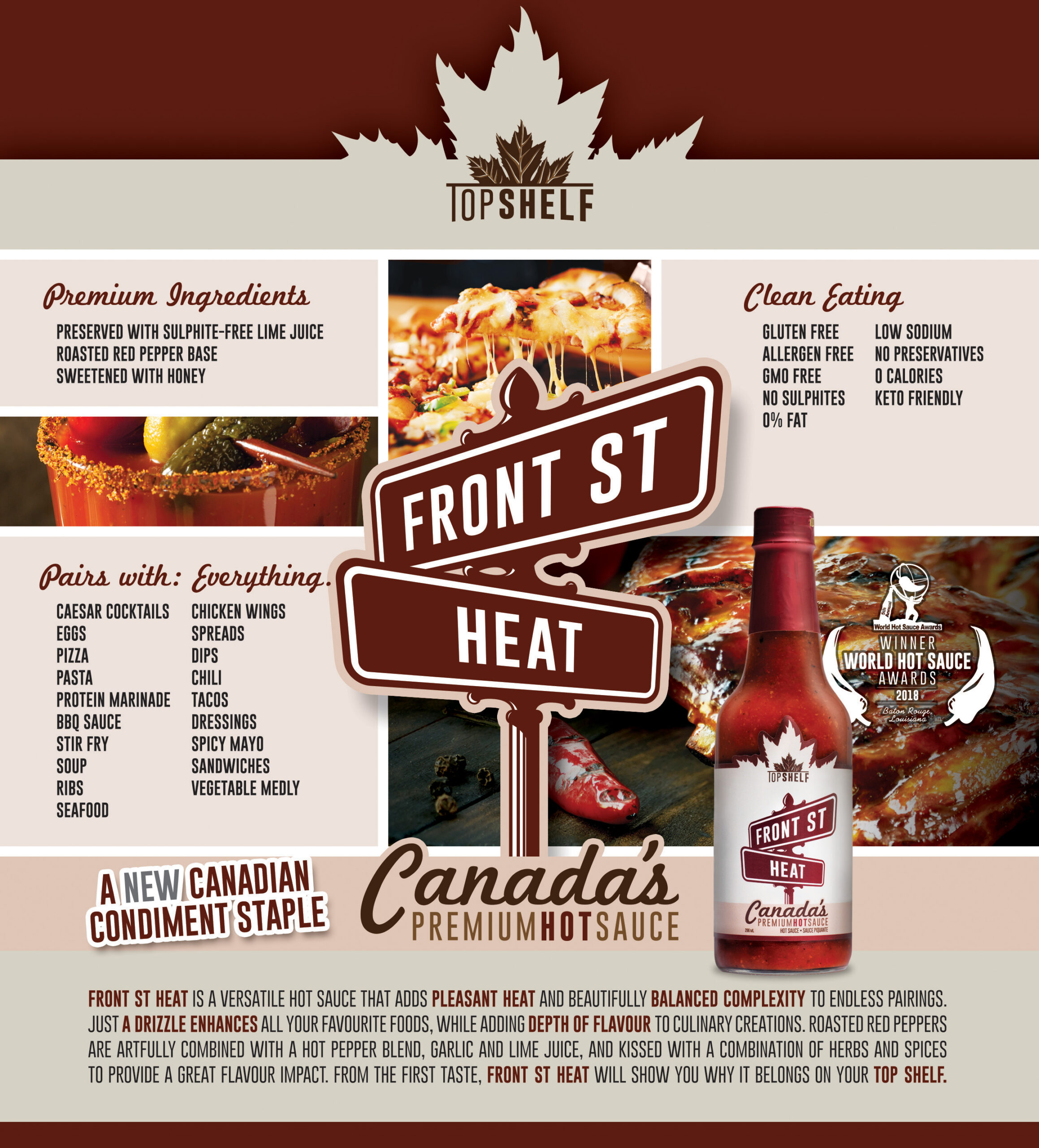 Top Shelf - Front Street Heat: Canada's Premium Hot Sauce