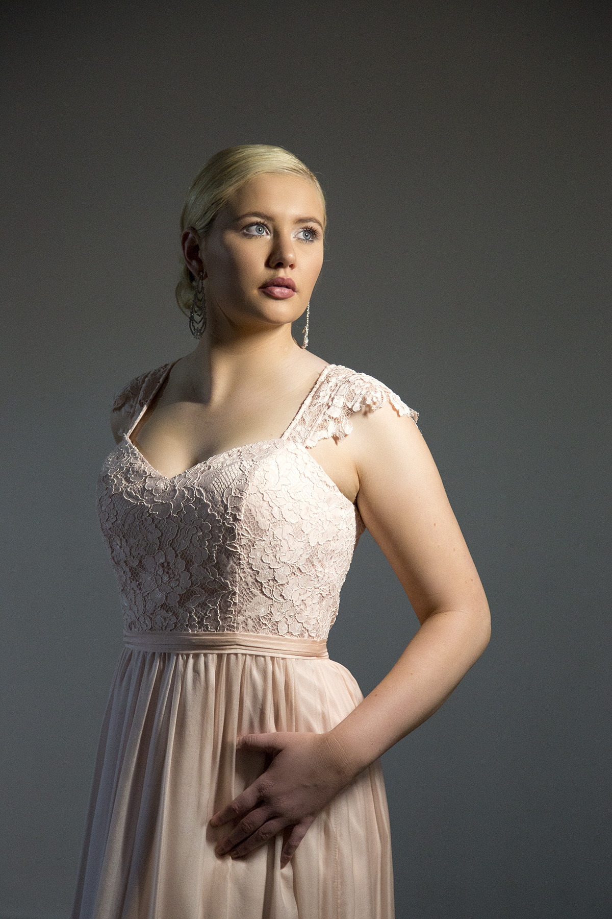 Portrait of a bride indoors