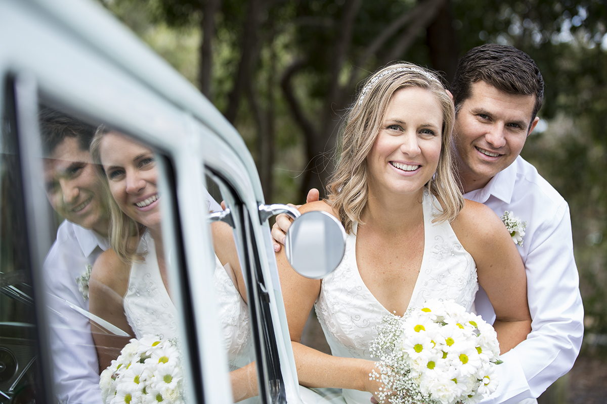 Beach wedding couple in Gladstone
