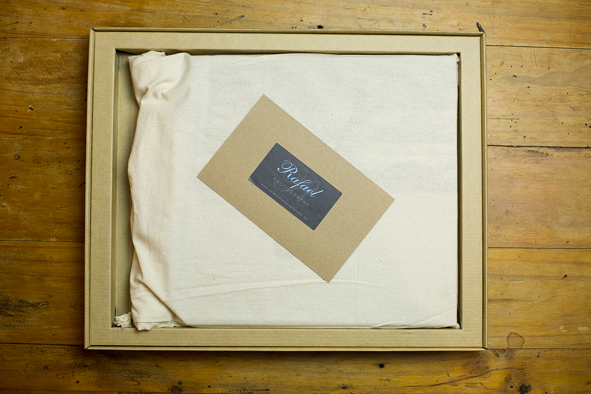 Example of image book in its box and bag