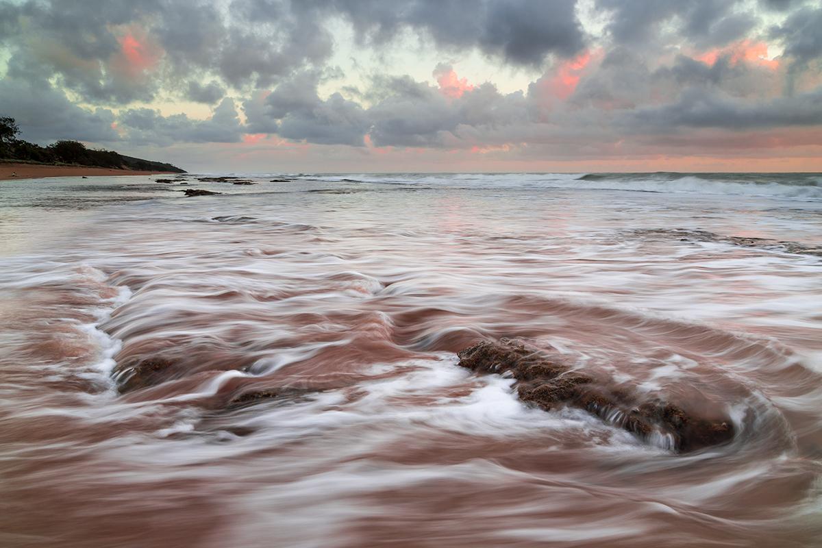 Agnes beach on a sunrise