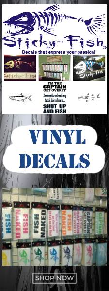 Sticky Fish decals and window stickers for sale