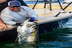 Boca Grande Florida record tarpon for Captain Jay Withers