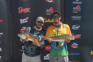 Karl Butigian with a red fish tournament win