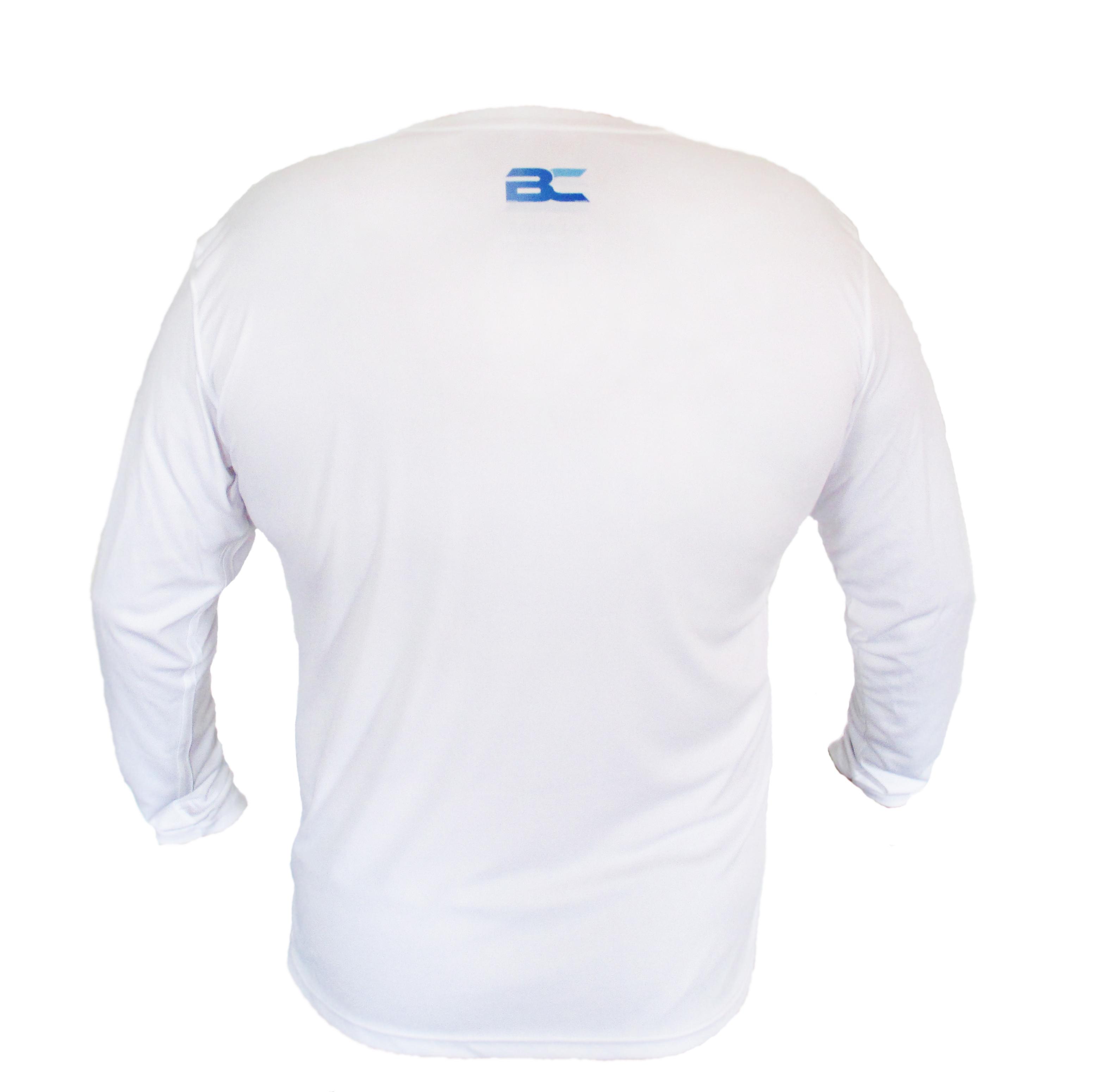 BC back of performance long sleeve fishing shirt