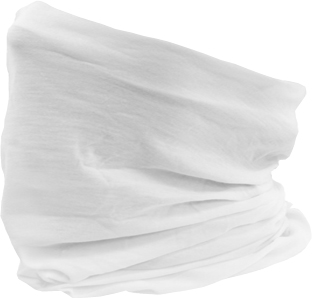 Buff sun gaiter in color white