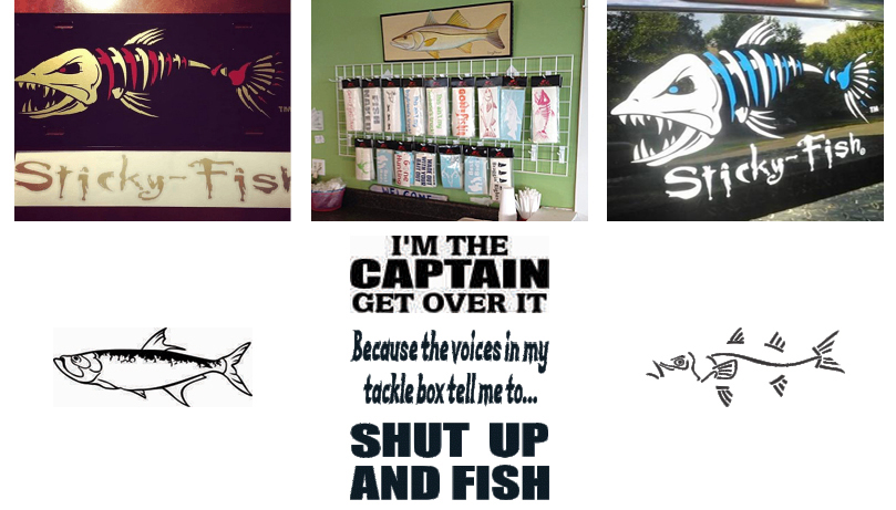 Boat stickers and decals custom made for windows