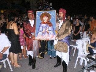 Η εικόνα της Αγίας Μακρίνας στην Αξό Γιαννητσών