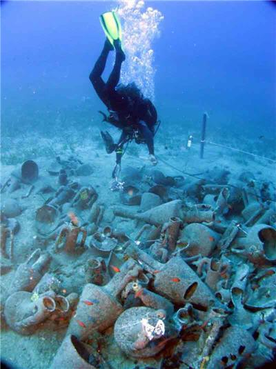 Καταγραφή αμφορέων στη θάλασσα Μαζωτού