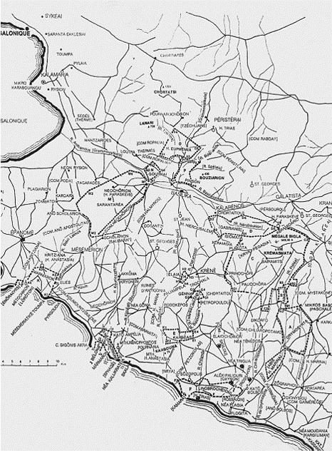 Το κατεπανίκιον της Καλαμαριάς κατά την εποχή των Παλαιολόγων. Τα χωριά και τα τοπωνύμια αναφέρονται με τα ονόματα που είχαν και την εποχή εκείνη και με τη σημερινή τους ονομασία.