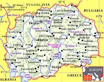 Χάρτης της FYROM