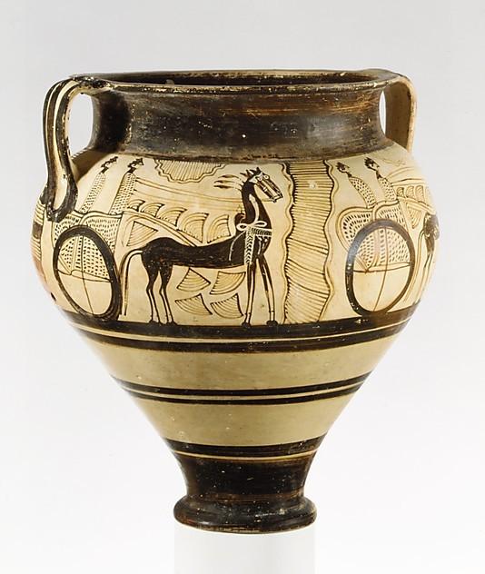 Εικόνα 3 - Πήλινο αγγείο που χρονολογείται 1375 -1350 π.Χ. και βρίσκεται στο Μητροπολιτικό Μουσείο Τέχνης Ν.Υ.