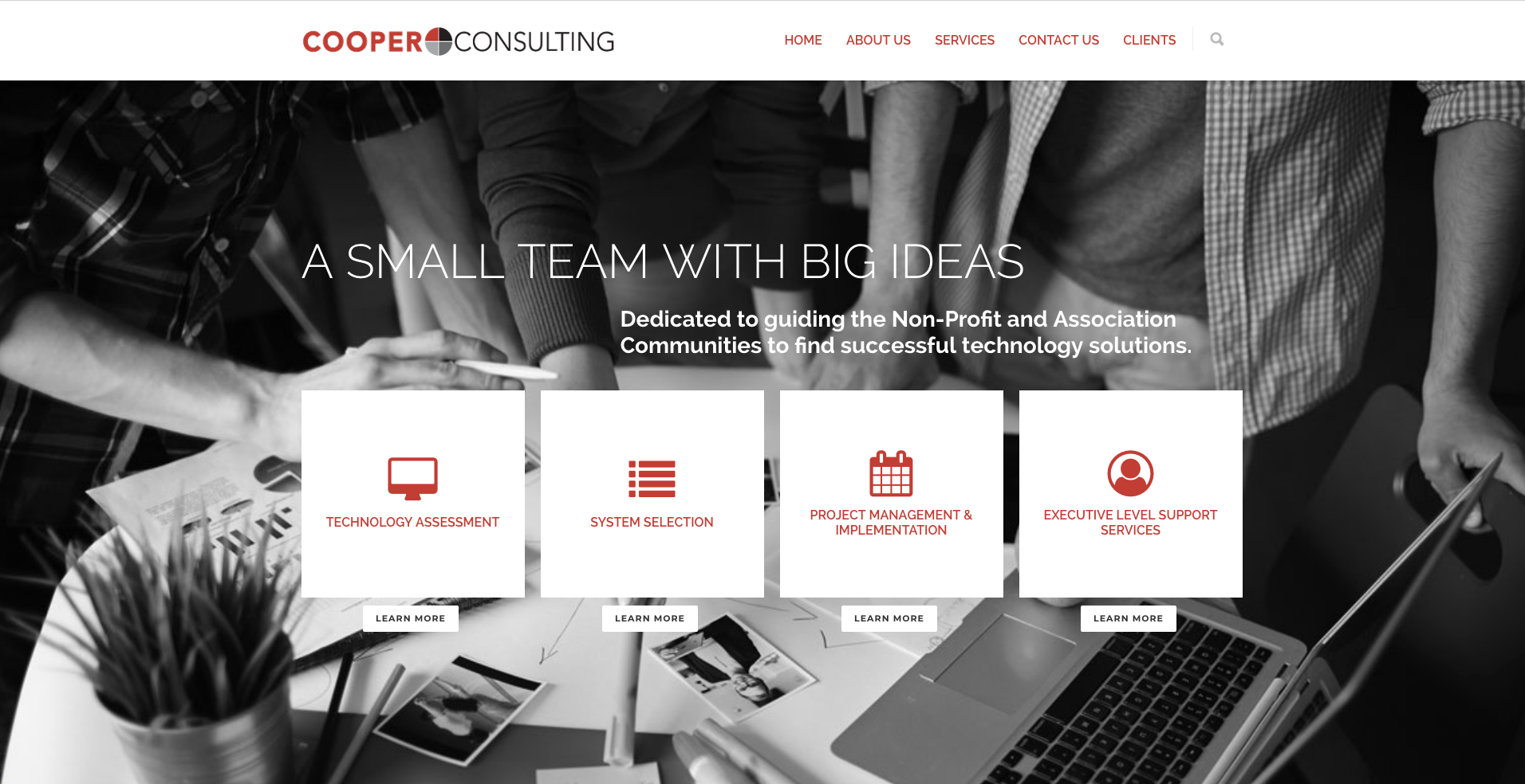 Cooper Consulting Website designed by Big Rock Studio