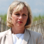 Kim Guadagno on the Beach