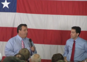 Chris Christie campaigns with Scott Walker in 2012.